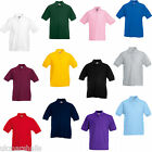 3 FRUIT OF THE LOOM KIDS POLO SHIRTS ALL SIZES 11 COLS