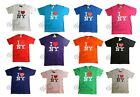 I HEART NY T-SHIRT LOVE NEW YORK CITY TEE OFFICIAL TAGS WHITE BLACK PINK PURPLE