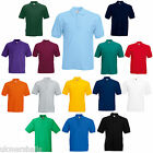 FRUIT OF THE LOOM POLO  SHIRT 15 COLOURS ALL SIZES