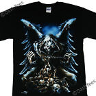 GRIM REAPER WINGS SKULL CHAIN FLAMES GOTHIC NEW T-SHIRT