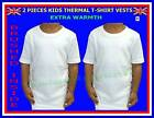 2 pieces BOYS GIRLS KIDS THERMAL BRUSHED UNDERWEAR VESTS WHITE