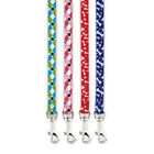 Nylon Dog Leads Pooch Bone Paw Print or Argyle Design Casual Canine Leashes NEW