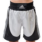 NEW ADIDAS MENS 3 STRIPES TRAINING BOXING BLACK SILVER POLYESTER SHORTS