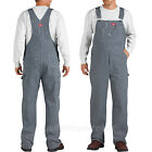 Dickies Bib Overalls Mens HICKORY STRIPE Bibs Pants 100% COTTON 30 - 50