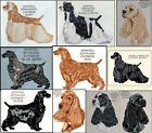 COCKER SPANIEL COUNTED CROSS -STITCH PATTERNS