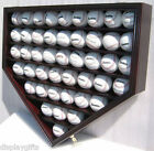 Shadow Box Wall Cabinet to hold 46 Baseball Display, Lock...