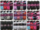 12 Pairs Ladies Girls Designer & Plain Socks Mixed Fashion Designs & Plain Socks