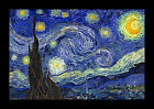 VAN GOGH STARRY NIGHT PAINTING Canvas Art Print