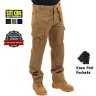 Mens Multi Pocket Cargo Work Trousers With Knee Pad Pockets Size 28 to 52