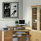 LARGE SKA 2 TONE DANCE BEDROOM WALL MURAL GIANT STICKER ART VINYL DECAL TRANSFER