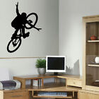LARGE BMX BIKE CHILDRENS ART BEDROOM WALL BIG MURAL STICKER STENCIL VINYL DECAL