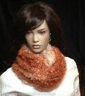 UK-Ladies Winter Warmer Soft Thick Double loops Snood Scarf Neck Wrap NEW 2 tone