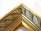 """2"""" Wide Gold Double Leaf Ornate Wood Picture Frame-Custom Made Square Sizes"""