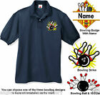 Embroidered BOWLING Polo Shirt - 9 Shirt Colors  (FREE SHIPPING IN USA)