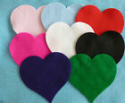 16 Large felt hearts pink, blue , red, white, black, purple or green