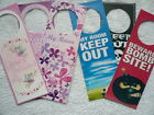 Childs Metal Door Hanger/Sign/Plaque Princess Fairy Skull Football Bomb Site