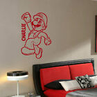 GIANT PERSONALISED MARIO BROS KART CHILDRENS BEDROOM WALL STICKER ART TRANSFER
