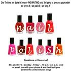 T-shirt - Your Name in -- NAIL POLISH bottles