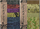 MINI SCRAPS Provo Craft Scrapbooking Paper 5 Sheets Choice GREEN or TEXT Retired