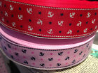 "1.5"" NAUTICAL Anchors and Stars Grosgrain RIbbon PINK or RED SOLDBY THE YARD"