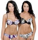 Padded Underwired Push Up Bikini Set Sizes 8 - 18 Two Colour Choices 30603 New
