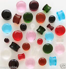 "Plugs Pair of 9/16"" Facet Cut Crystal Saddles in Assorted Colors"