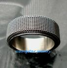 Stylish Stainless Steel with Raised Mesh Band 9.5mm Fashion Ring Size 9-14