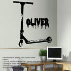 EXTRA LARGE PERSONALISED STUNT SCOOTER  WALL ART STICKER STENCIL TRANSFER DECAL