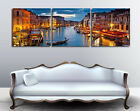 Italy Venice In The Evening On High Quality Canvas Prints Set Of 3 FRAEMD
