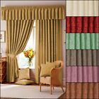 "BEAUTIFUL LANA DAMASK - 3"" LINED CURTAINS AND ACCESSORIES IN MULTIPLE COLOURS"
