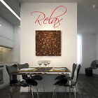 RELAX WALL STICKER, Quote, Bedroom, Kitchen, Lounge, Study, Wall Art, Q17