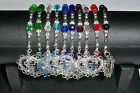 "Celestial Crystal Rosary Bracelet - Stretch One Decade - 6 1/2"" - Many Colors"