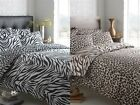 ANIMAL ZEBRA LEOPARD PRINT REVSERSIBLE DUVET QUILT COVER BEDDING SET