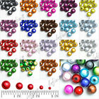 Acrylic Miracle Round Beads 18 Colors 4mm, 6mm, 8mm, 10mm, 12mm Fit Necklace DIY