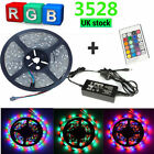 5M 10M 3528 5050 LED Strip Light RGB Cool/Warm White Red Blue Waterproof+Adapter