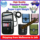 Travel Passport Card Holder Wallet Neck Pouch Bag Organizer iPhone Luggage Tag