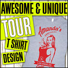 TOUR GIRLS HOLIDAY PARTY CUSTOM PRINT PREMIUM DESIGN YOUR OWN T SHIRT PACKAGE