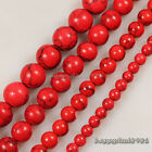 "Gorgeous Red Turquoise Round Ball Loose Beads 15.5"" 4mm,6mm,8mm,10mm"