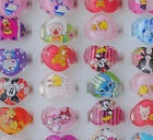 Wholesale Heart Design Printing Cartoon Plastic Children Rings Jewelry JR032
