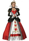 Queen of Hearts Fairytale Adult Woman Halloween Costume Fairy Tale Dress 1037