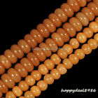 Gorgeous Red Aventurine Gemstone Abacus Rondelle Loose Beads 15.5""
