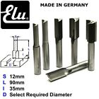 ELU HSS TWO FLUTE STRAIGHT ROUTER BIT CUTTERS - 12MM SHANK - MADE IN GERMANY