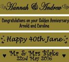 GOLD WEDDING BANNER GOLDEN ANNIVERSARY PARTY PERSONALISED DECORATIONS BANNER