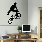 LARGE BMX TRICK TEENAGE WALL ART BEDROOM STICKER TRANSFER POSTER STENCIL DECAL