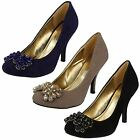 LADIES ANNE MICHELLE COURT SHOES L2235 COLOURS AVAILABLE BLACK, BLUE & NUDE