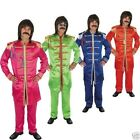 Mens 60s pop Sgt Sergeant pepper fab four 1960s hippy icons fancy dress costume