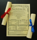81ST,82ND,83RD,84TH,85TH.86TH,87TH,88TH,89TH BIRTHDAY PARCHMENT GIFT/PRESENT