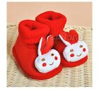 Colorful Little Rabbit Design  Fanny Baby Fashion Toddlers antiskid warm Shoes