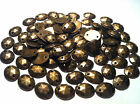 100 x OVAL FACETED Acrylic BRASS sew on, stitch on, stick on STUDS, Gems