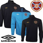 Hearts FC Heart of Midlothian Football Jackets 1/2 Zip Track Top Shirt Mens New